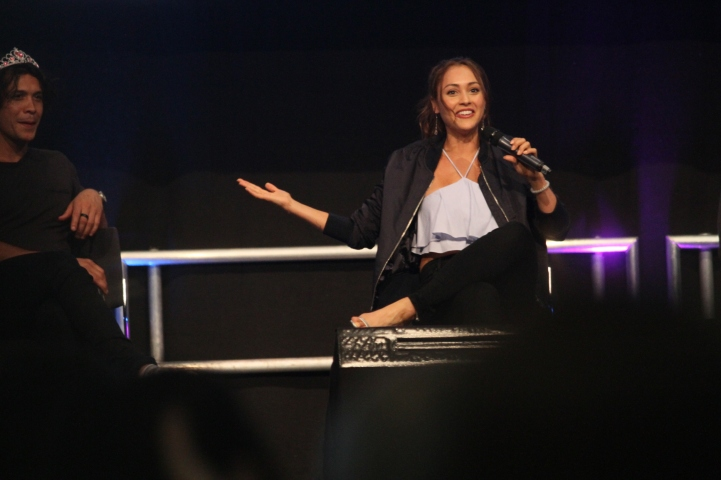 Lindsey Morgan at the ComicCon Germany in Stuttgart
